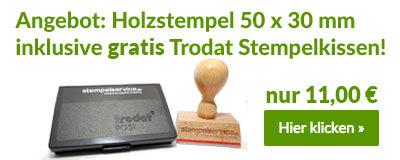 Top-Angebot: Holzstempel inkl. Stempelkissen
