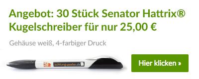 Top-Angebot: 30 Senator Hattrix Kugelschreiber