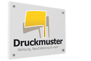 Kunststoff-Schild 30 x 30 cm