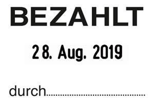 """BEZAHLT+Datum"" SB7  | Trodat Professional 5430"
