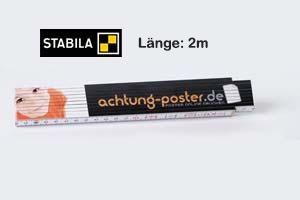 Angebot: Zollstock | 2m | Druck: 4-farbig  (10 Stück)