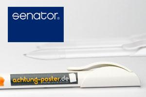Kugelschreiber Senator Hattrix - Logo Druck: 4-farbig