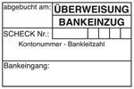 """Buchungsstempel """"abgebucht am"""" BS1 - Holzstempel 60 x 40mm"""