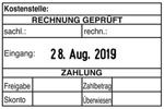 """""""Rechnungsprüfung+Datum"""" SB5 - Colop Printer 55"""