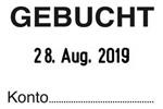 """GEBUCHT"" SB6 - Trodat Printy 4750"