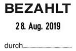 """""""BEZAHLT"""" SB7 - Trodat Printy 4750"""