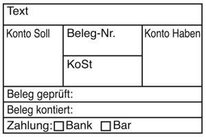 Holzstempel Kontierung 60x40 mm - BHS15