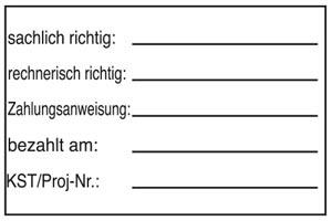 Holzstempel Prüfstempel 60x40 mm - BHS16