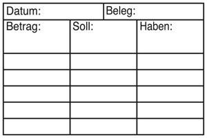 Holzstempel Betrag-Soll-Haben 60x40 mm - BS10