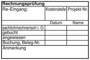Holzstempel Rechnungsprüfung 60x40 mm - BHS1