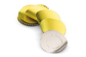 Etiketten für Prägezangen 55mm / gold