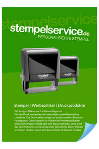 Individuelle Druckprodukte | stempelservice.de