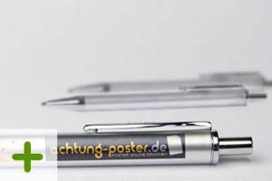 Kugelschreiber Metalloptik - Logo Druck: 4-farbig