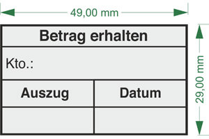 Eingangsstempel online gestalten bei stempelservice.de