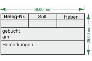 """Beleg-Nr. - gebucht"" BS17 | Holzstempel 60x30mm"