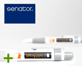 Kugelschreiber Senator Big Pen - Logo Druck: 4-farbig