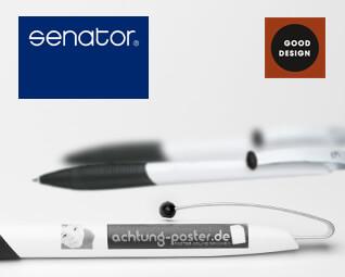 Kugelschreiber Senator Matrix - Logo Druck: 1-farbig