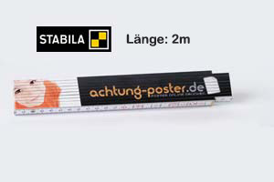 Zollstock | 2m | Druck: 4-farbig  (50 Stück)