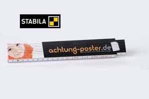 Zollstock mit Druck 4-farbig BEIDSEITIG (50 Stück)