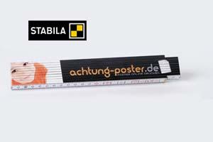Zollstock mit Druck 4-farbig BEIDSEITIG (100 Stück)