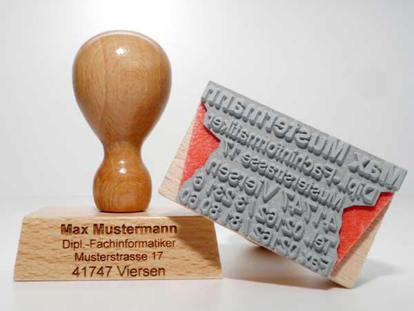 Holzstempel online bestellen